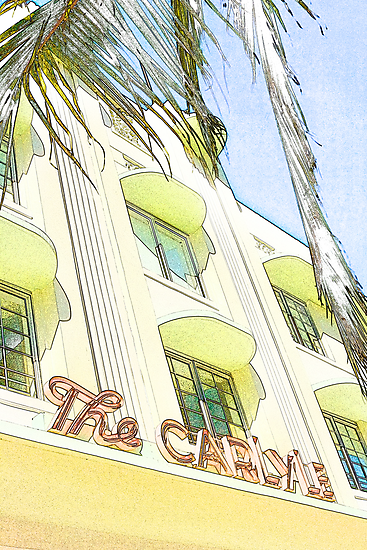 the carlyle hotel, south beach, florida by brian gregory