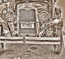 Old chevy truck front- B&W (sepia) by henuly1