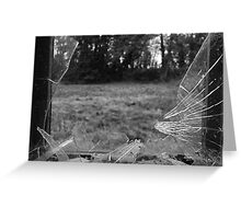 Broken Glass Greeting Card