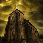 Storm over Church by Paul Barralet
