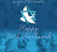 Rosh Hashanah Greeting Card by Moonlake