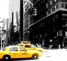 new york city and taxi's by samh0731