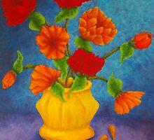 Red & Orange Flowers by Allegretto