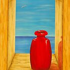 Red Vase by Allegretto