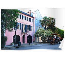 Rainbow Row in Charleston Poster