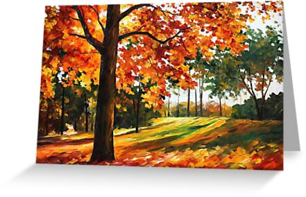 Autumn - Original Oil Painting By Leonid Afremov by Leonid  Afremov
