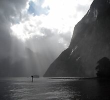Milford Sound Sunrays by Michael John