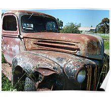 1946 jailbar Ford 2 tonne truck Poster