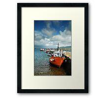 Valentia Boats Framed Print