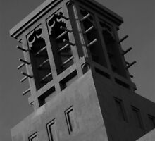 Arab Villa / House Ventilation - Black and White by einstein24