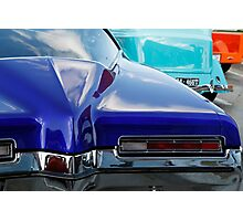 Blue Boattail Buick Photographic Print