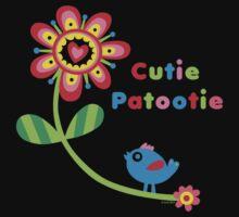 Cutie Patootie - on darks Kids Clothes