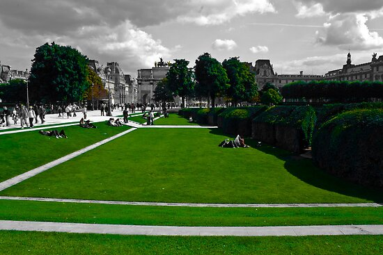 Lawns at the Louvre by TimothyMonson