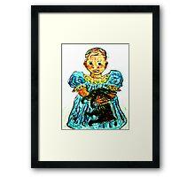 Child With Rabbit Framed Print