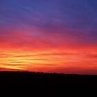 Portugal fire sky by Meladana