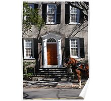 Beautiful House on Meeting Street in Charleston Poster