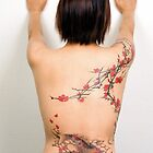 Freehand Cherry Blossoms & Koi by TattooTemple