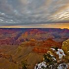 Grand Canyon National Park Sunrise and Snow by photosbyflood