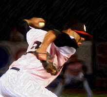 Baseball Art - Sidearm 1 by Fojo