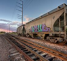 Dusk at the Tracks by Sue  Cullumber