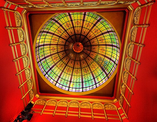 Glory On High -  The Great Dome The Queen Victoria Building - The HDR Experience by Philip Johnson
