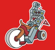 hot wheeling robot love 2 Kids Clothes