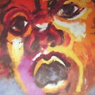 Fractured Face - Mono Silkscreen by DreddArt