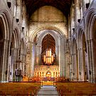 Looking Toward the Choir, Ripon Cathedral by Christine Smith