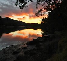 Hawkesbury River Sunset. by Warren  Patten