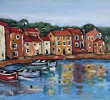 Boats at Rovenska by Marie Theron