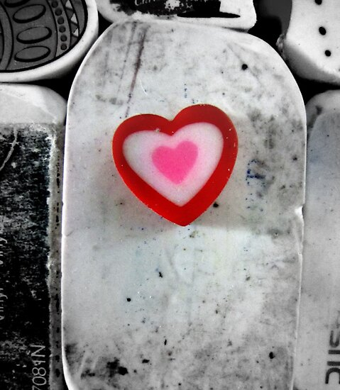 heart shaped eraser by Leeanne Middleton