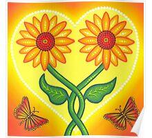 sunflower eternal love Poster