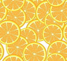 Orange slices pattern by Richard Laschon