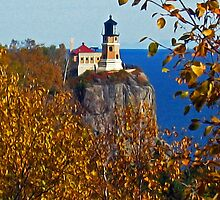"""Split Rock Lighthouse ~ Autumn"" by MarieR"