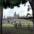 couple on a bench, chicago  by brian gregory