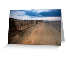 Cliffs over Varca Greeting Card