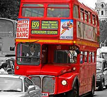 London Red Bus by Chris L Smith