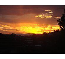Lenah Valley Sunrise, Tasmania, Australia Photographic Print
