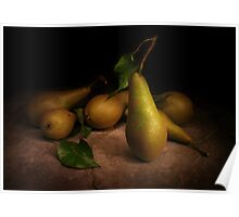 Conference Pears on Slate Poster