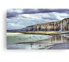 Low Tide in Saint Valery en Caux - Gleam of sun Canvas Print