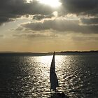 Boat on the Solent by Jon Clifton
