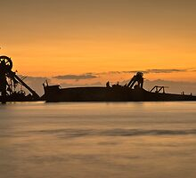 Wrecks at Tangalooma by GayeL Art