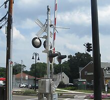 Train Signals at North Scituate Intersection by Eric Sanford