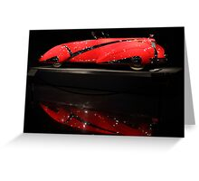 Red Cadillac Reflections Greeting Card
