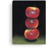 stacked apples Canvas Print