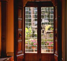 Door to the Garden by Barbara  Brown