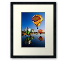 Balloon Reflections Framed Print
