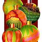 Christmas Ornaments Desert Theme by Jamie Rice
