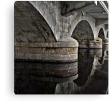 Bridge over Smooth Waters Canvas Print