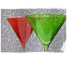 Christmas: Candy Cane and Mint Martinis Poster